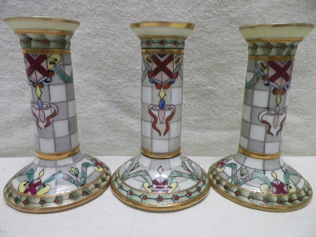 Nippon 3 Candle Sticks Morimura Brothers