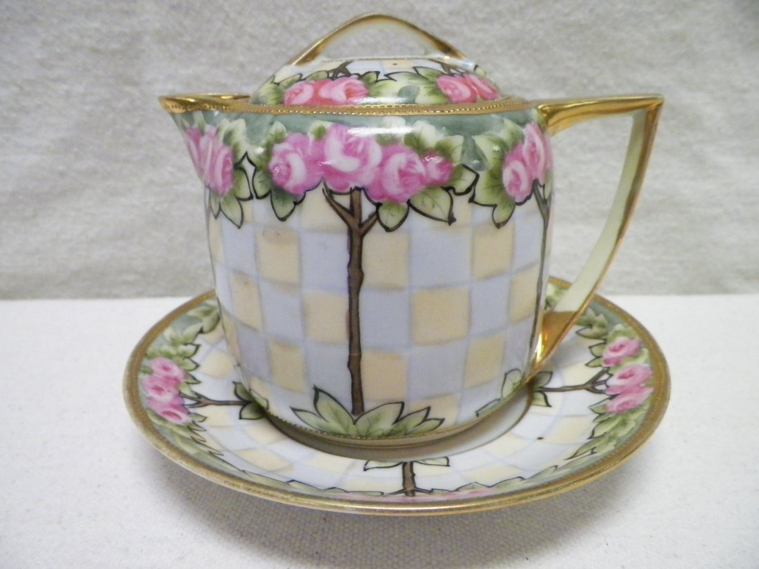 Nippon Under Plate Creamer Roses and Gold Morimura