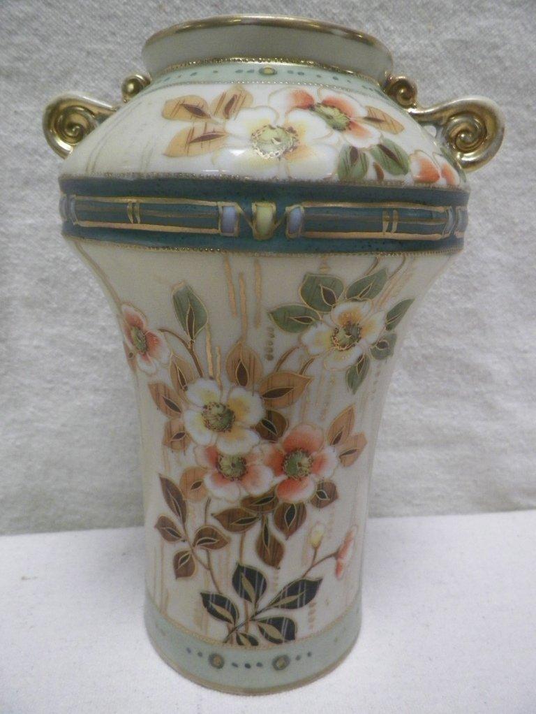 Nippon Vase ho-o Birds Mark Floral and Gold Trim