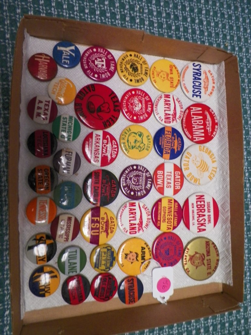 Vintage 1950s-1960s College Football Bowl Game Pinbacks