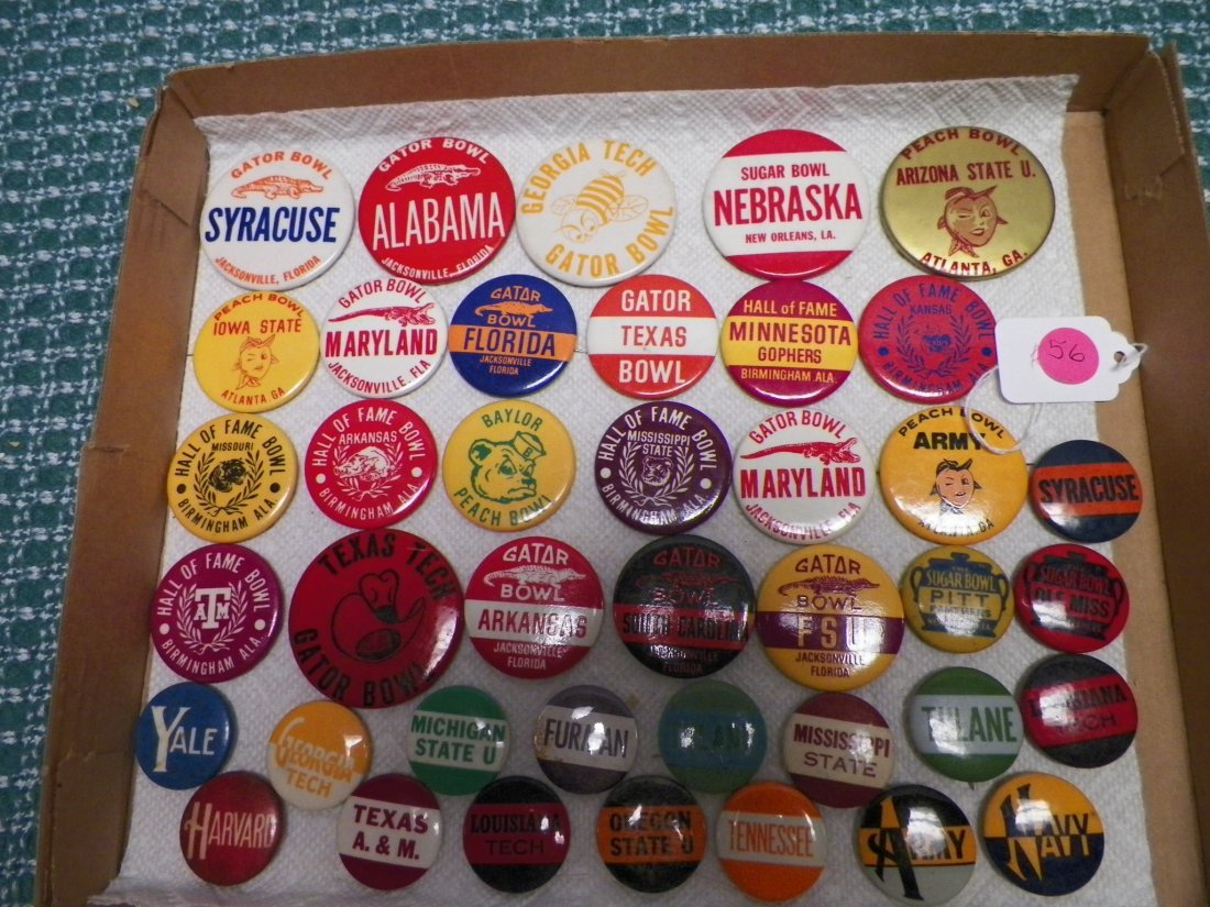 Vintage 1950s-1960s College Football Bowl Game Pinbacks - 3
