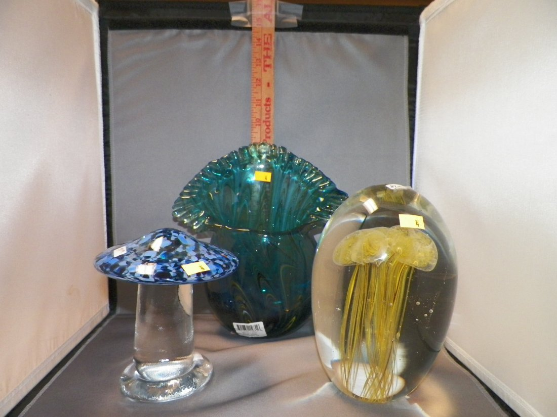 Three (3) Assorted Glass Pieces