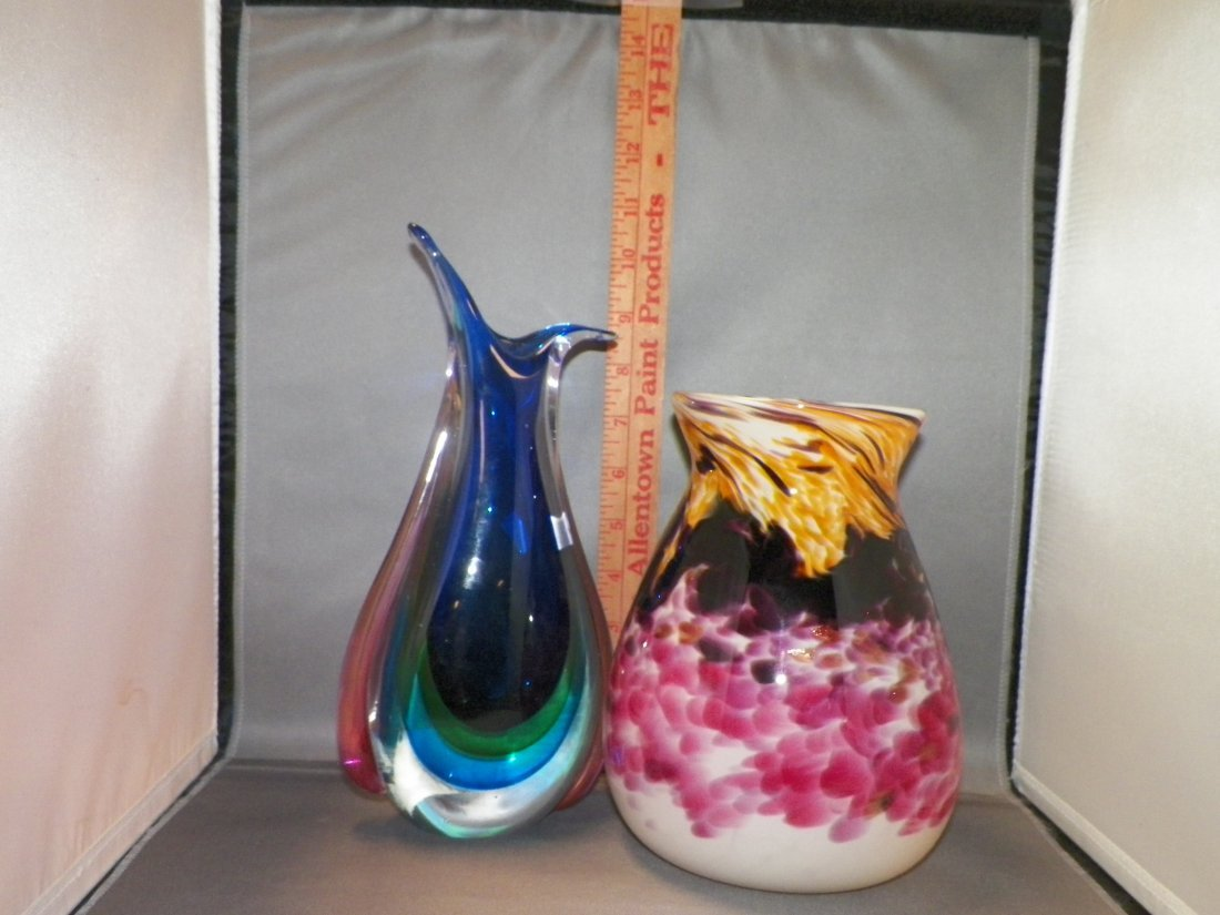 Two (2) Assorted Glass Pieces