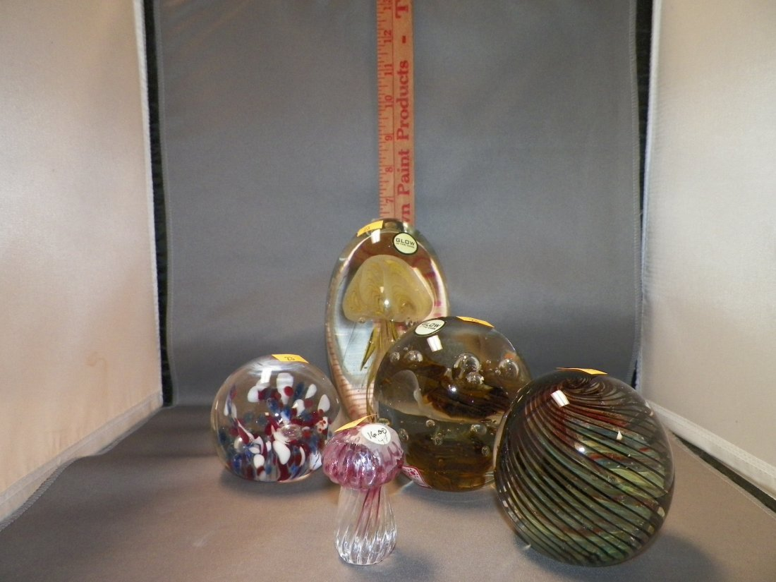 Five (5) Assorted Glass Pieces