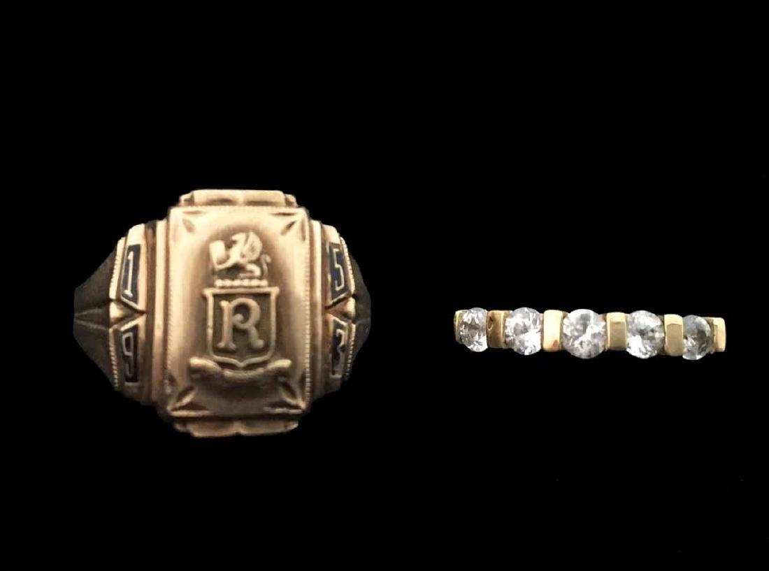 (2) 10K Gold Rings