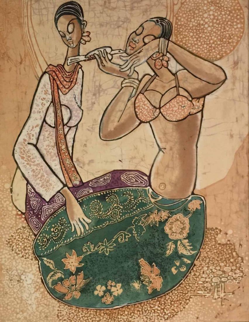 Seah Kim Joo Batik Cloth Painting