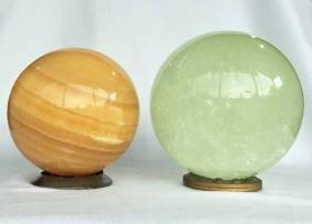 (2) Gemstone / Mineral Spheres
