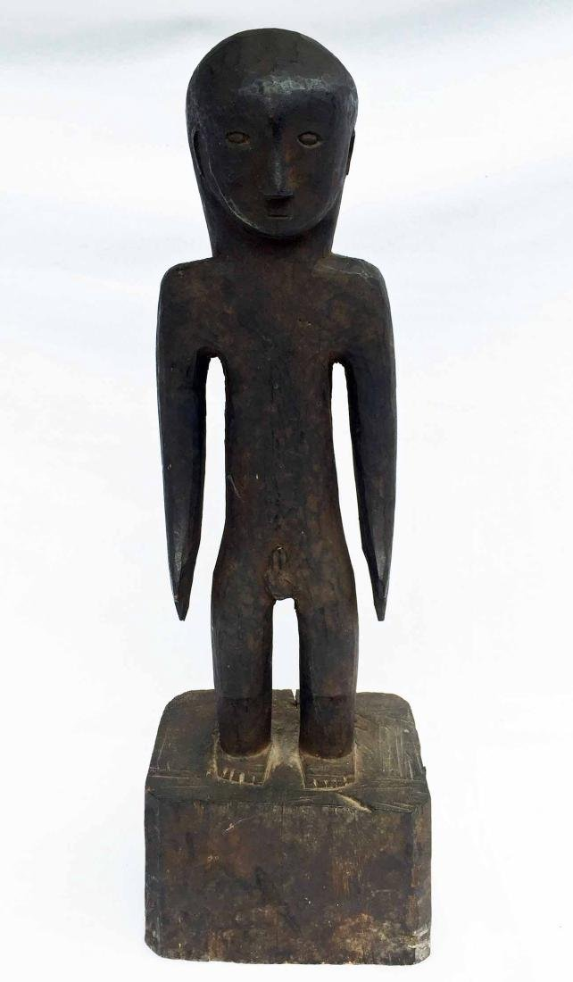 African Congo Wood Carved Nude Male Statue