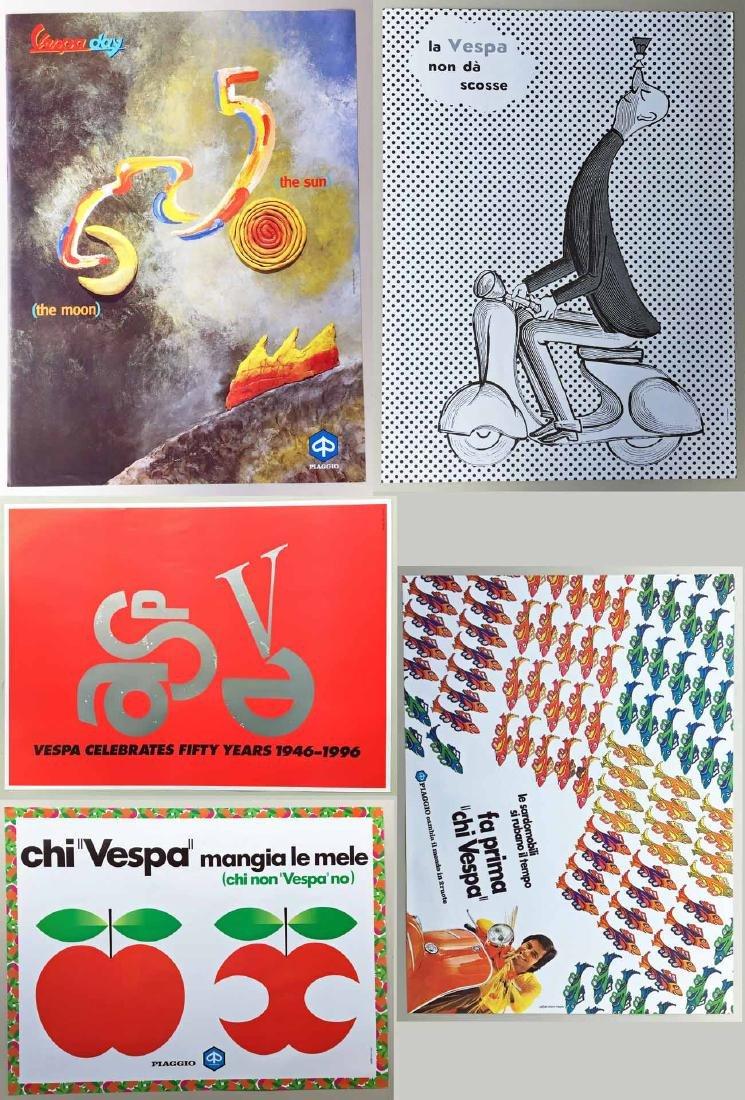 (5) Vespa Posters