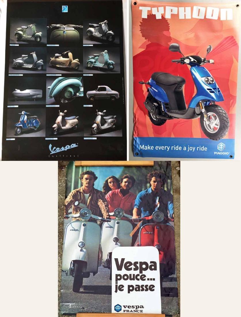 (5) Vespa Posters and (1) Small Vespa Banner