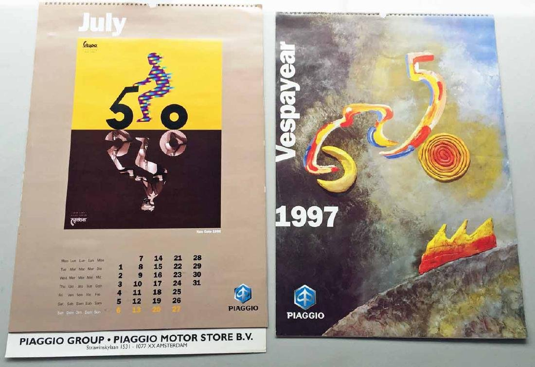 (2) Vespa Calendars