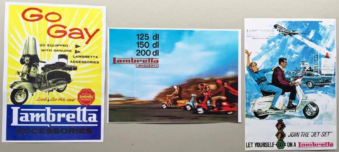 (3) Lambretta Posters