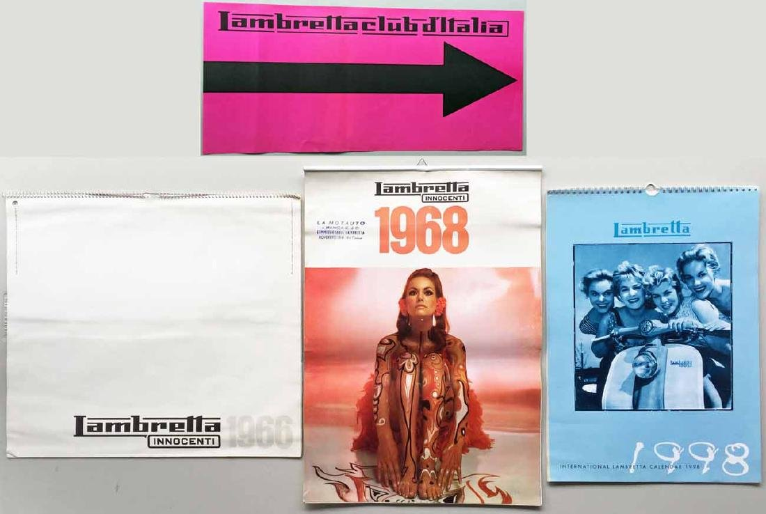 (3) Lambretta Calendars and Vintage Lambretta Paper