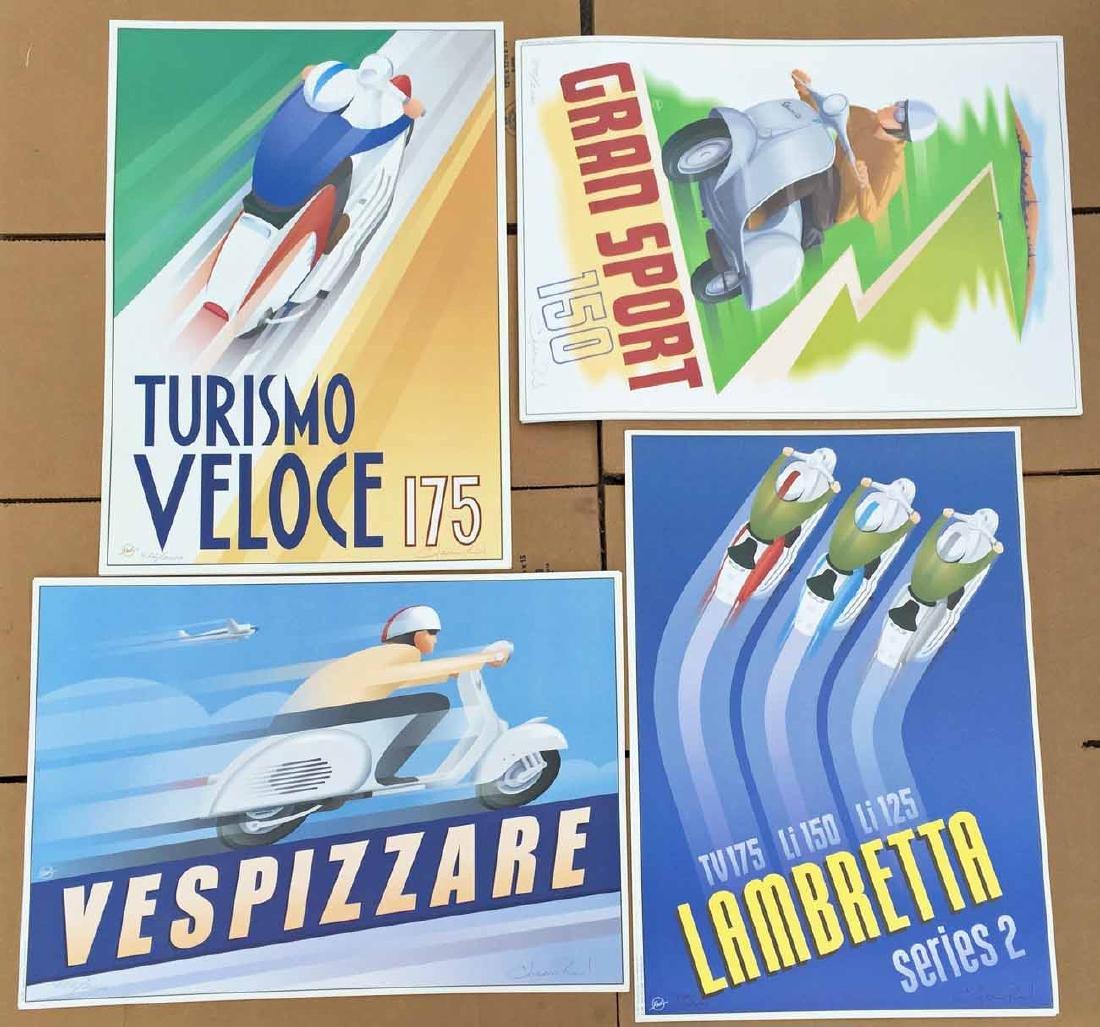 (20) Glen Reid Art Deco Style Scooter Prints