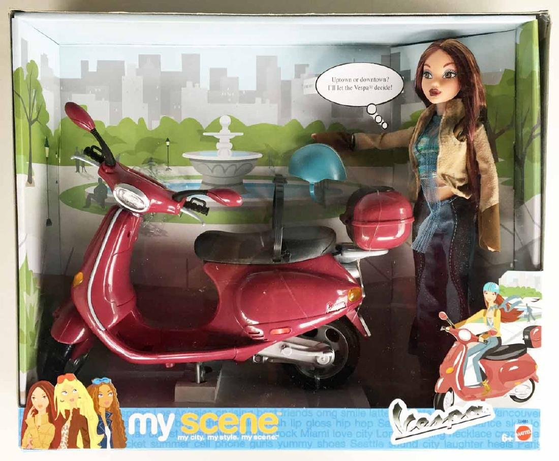Toy Vespa with Doll
