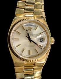 18K Gold Rolex Day-Date Wrist Watch