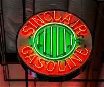 Reproduction Neon Sinclair Gasoline Sign