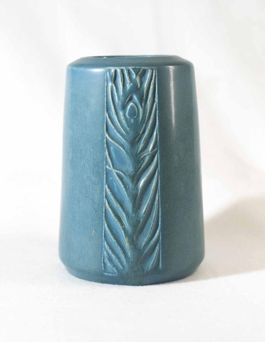 Rookwood Peacock Vase