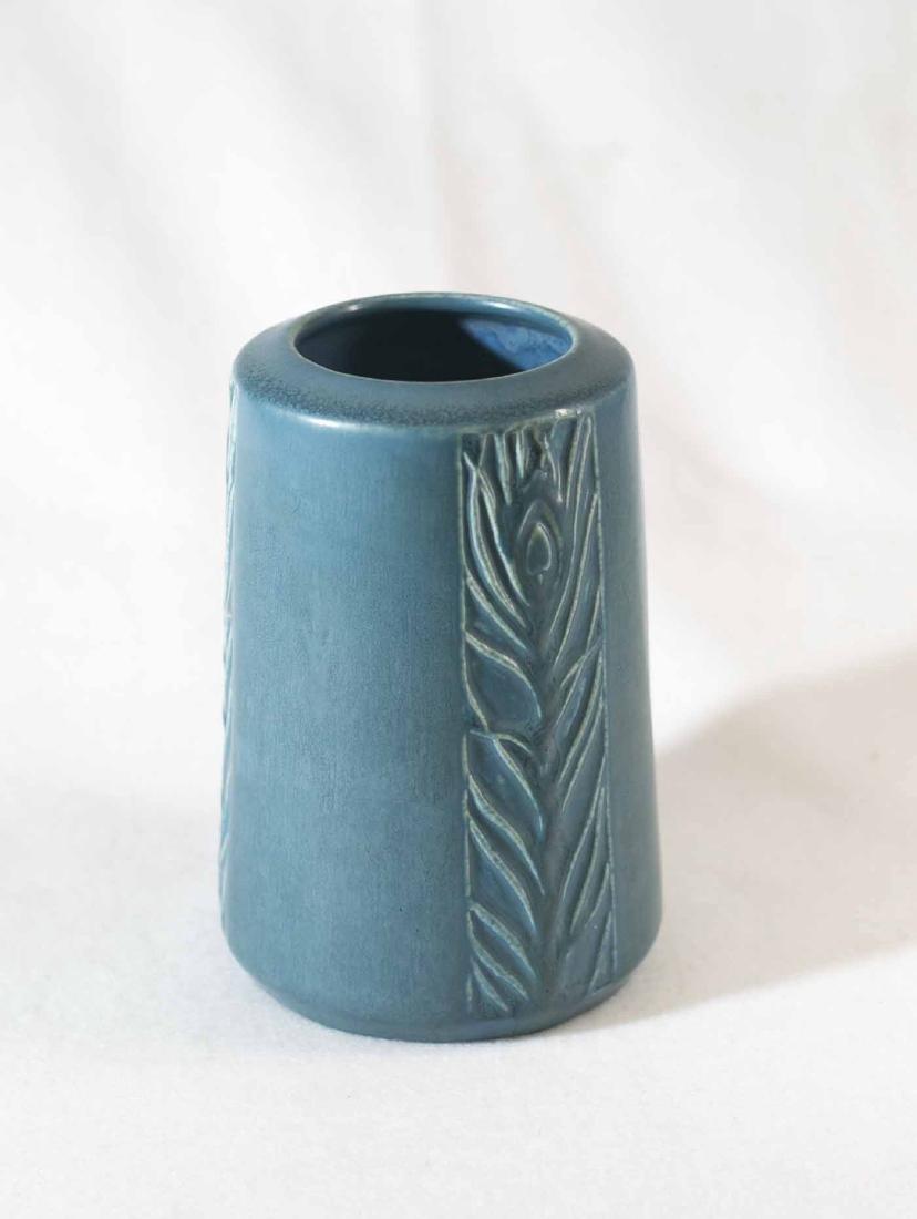 Rookwood Peacock Vase - 2