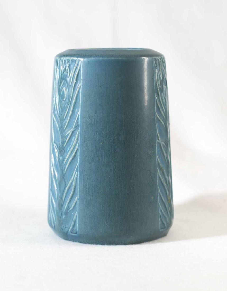 Rookwood Peacock Vase - 3