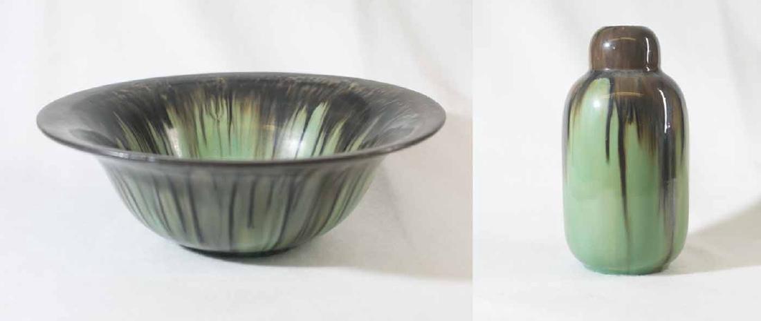 Fulper Bowl and Vase