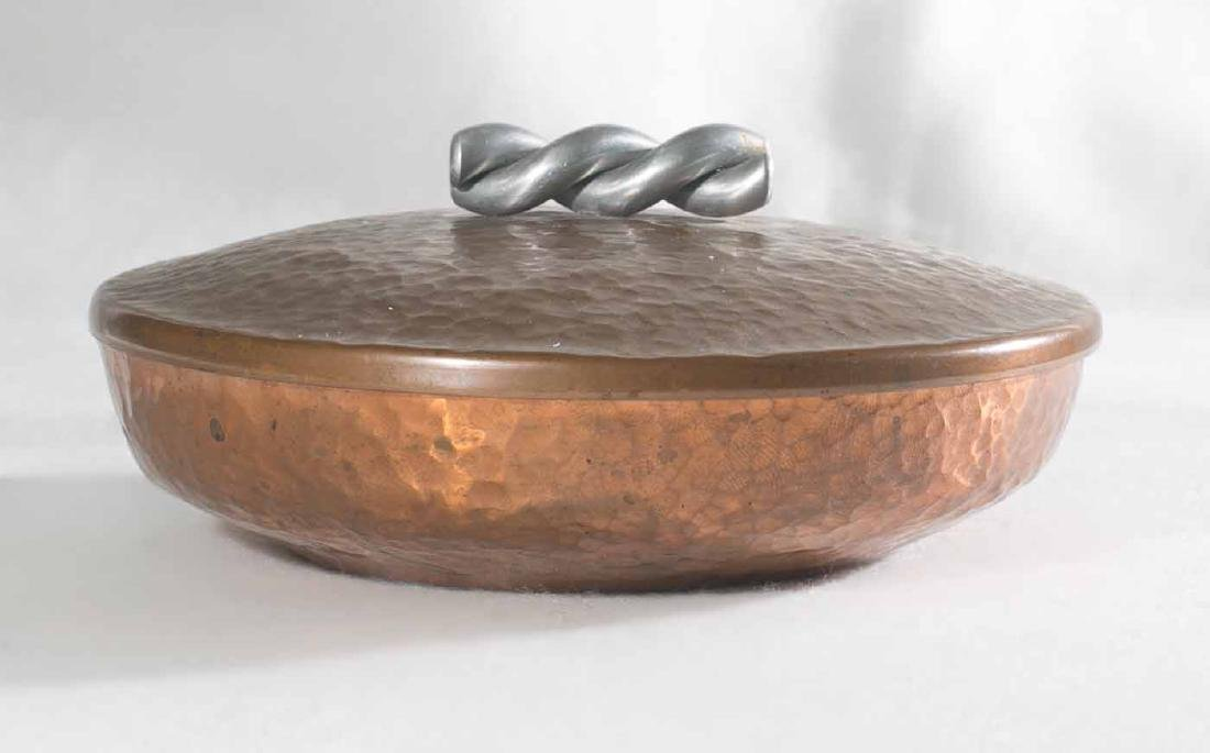 Art Deco Hand Hammered Copper Bowl - 2
