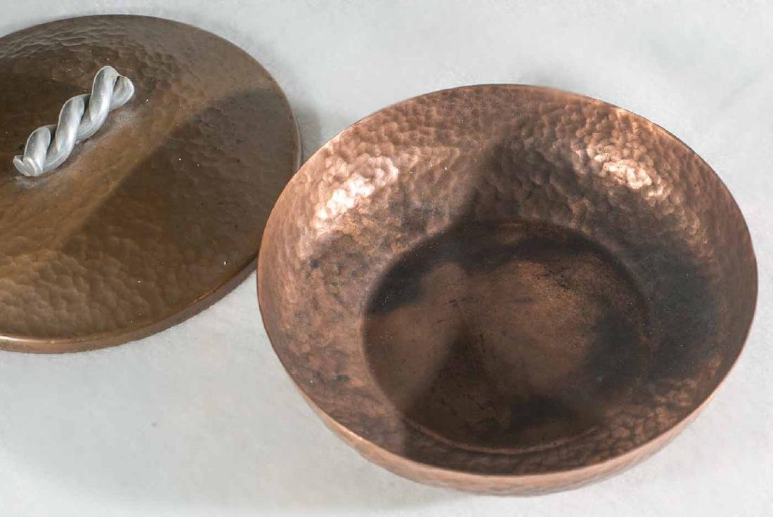 Art Deco Hand Hammered Copper Bowl - 4