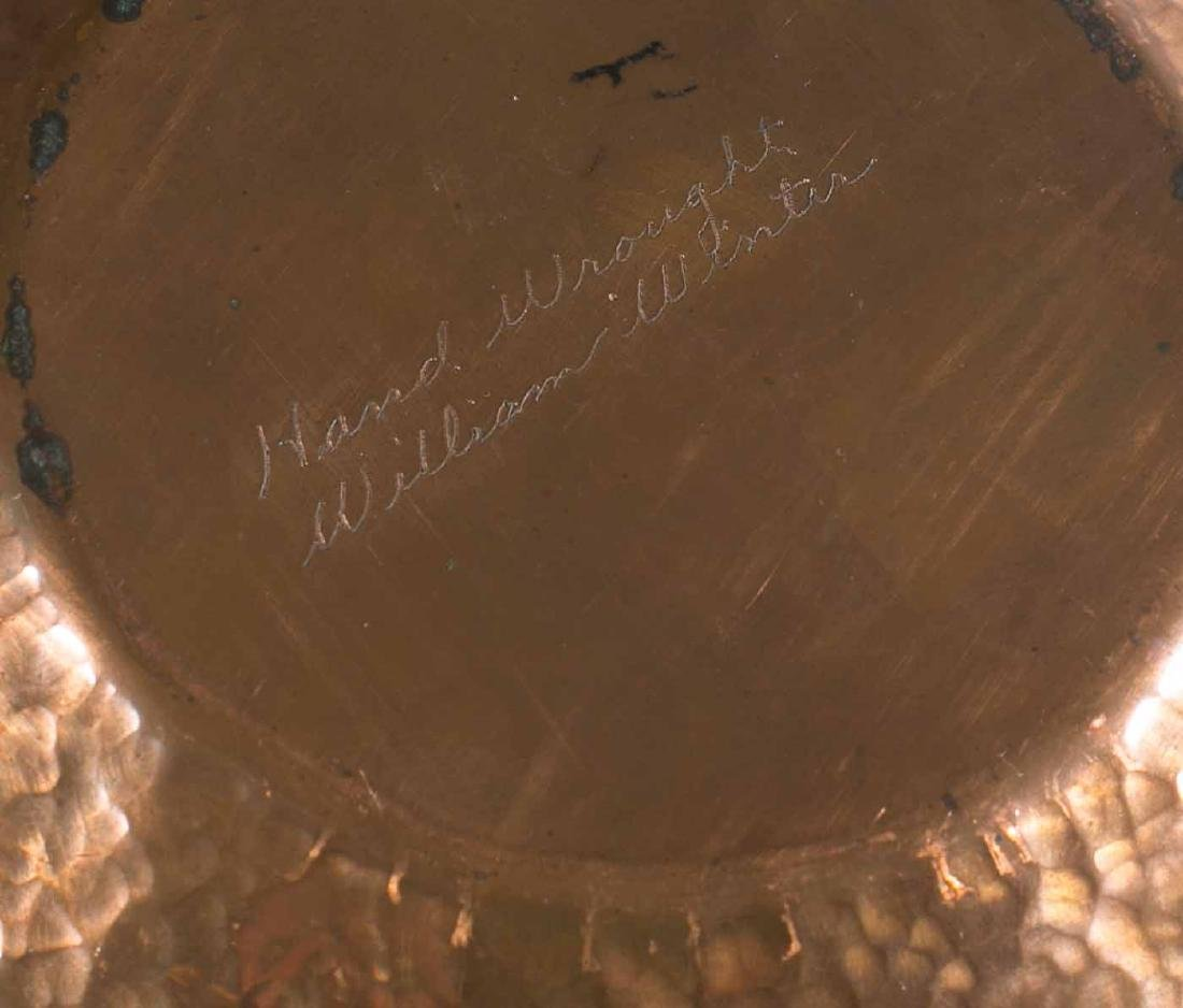 Art Deco Hand Hammered Copper Bowl - 5