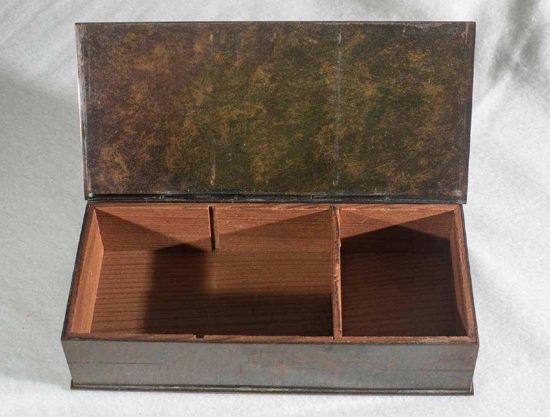 Art Deco Silver Crest Bronze Box - 2