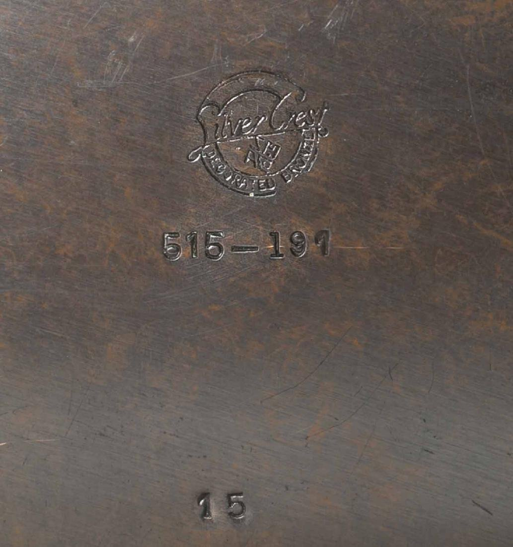 Art Deco Silver Crest Bronze Box - 3