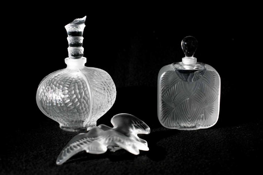 Broken Lalique Perfume Bottles and Bottle Topper