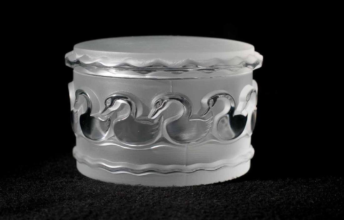 Lalique Swan Jewelry Box