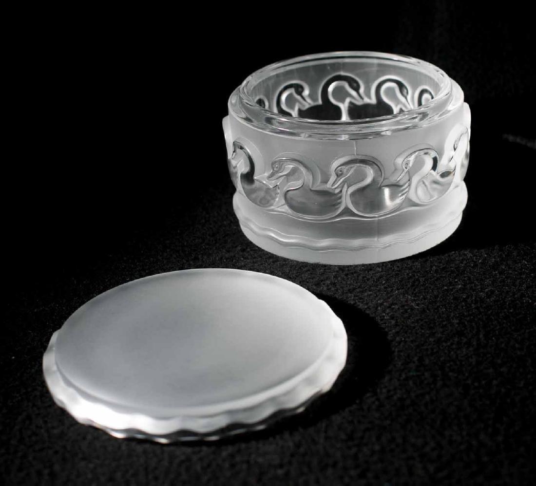 Lalique Swan Jewelry Box - 2