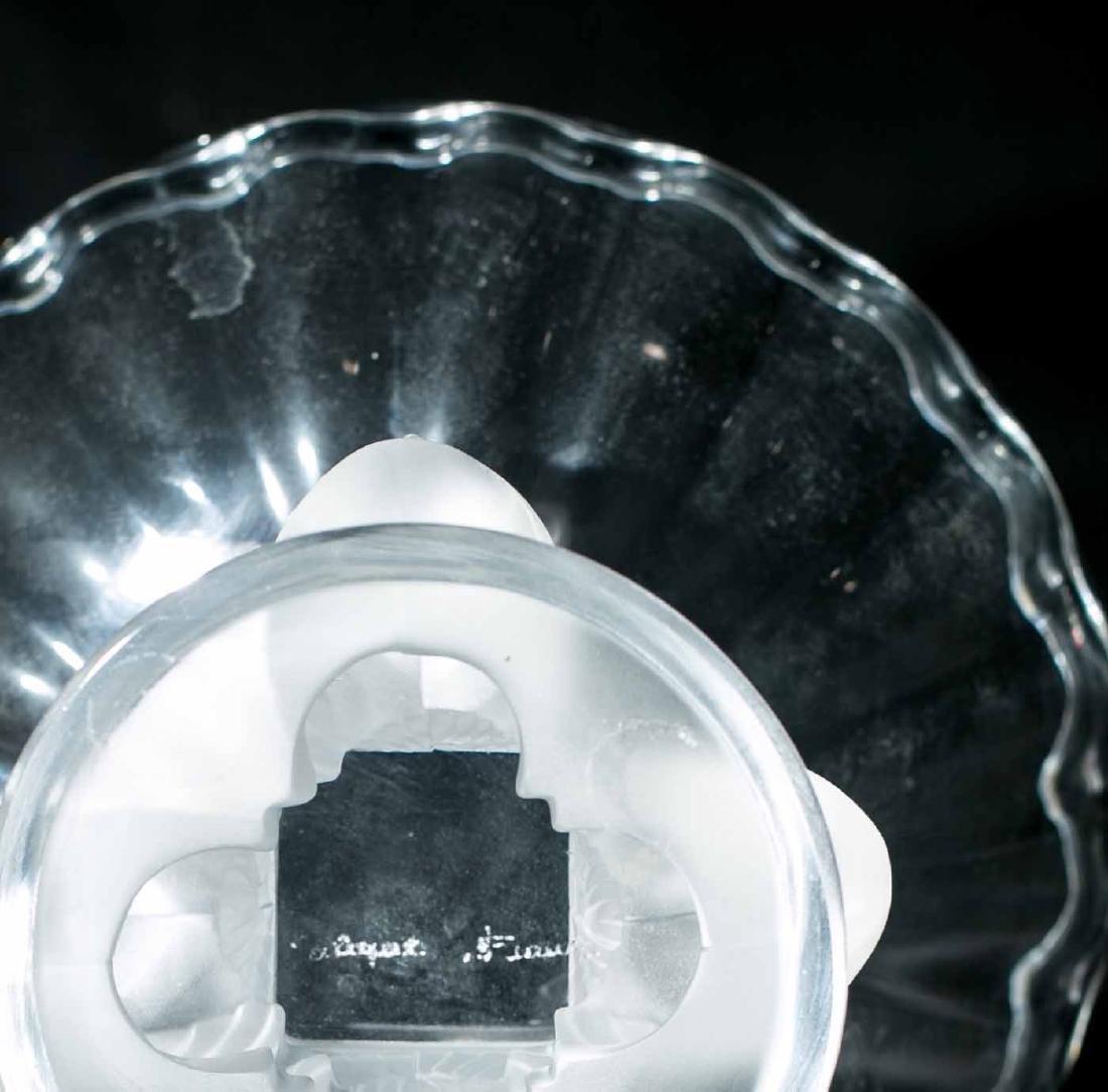 Lalique Nogent Crystal Bowl Bird Base Compote - 3