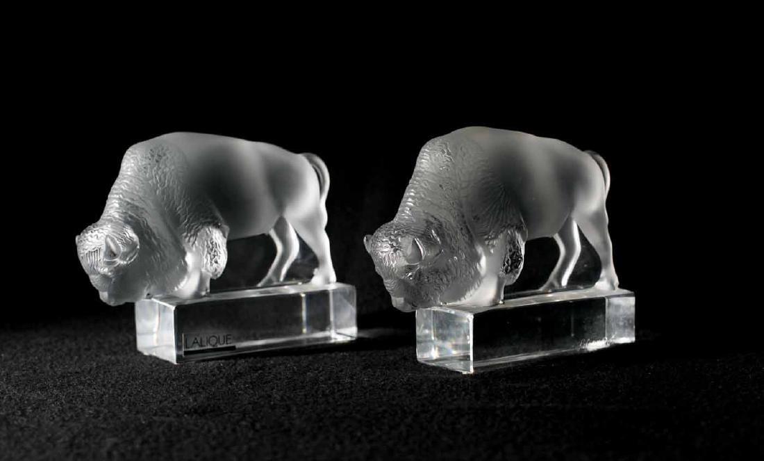 Lalique Buffalos - 2