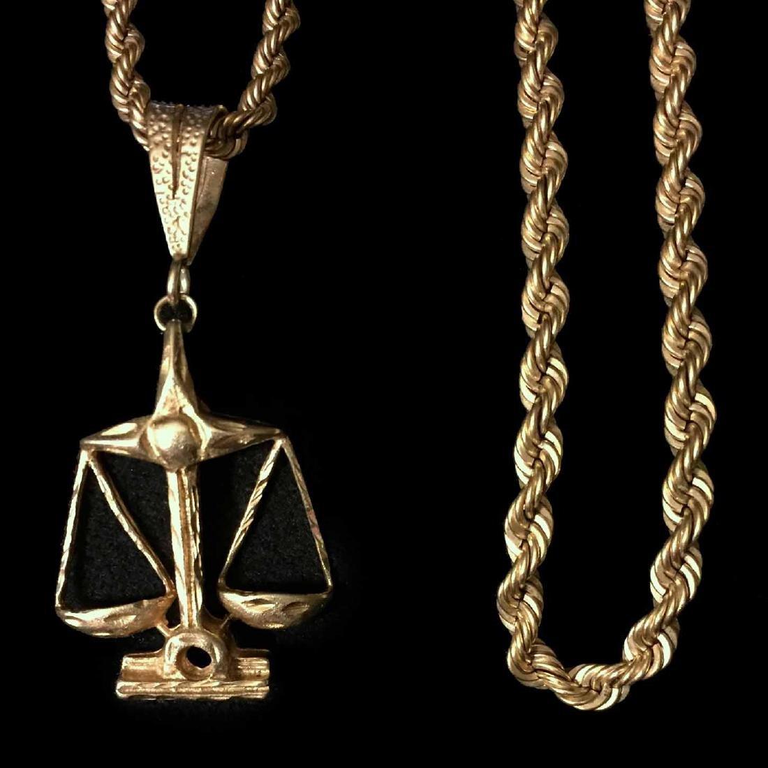 Gold Scale Pendant Necklace