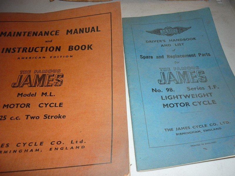 82: James Motorcycle Memorabilia