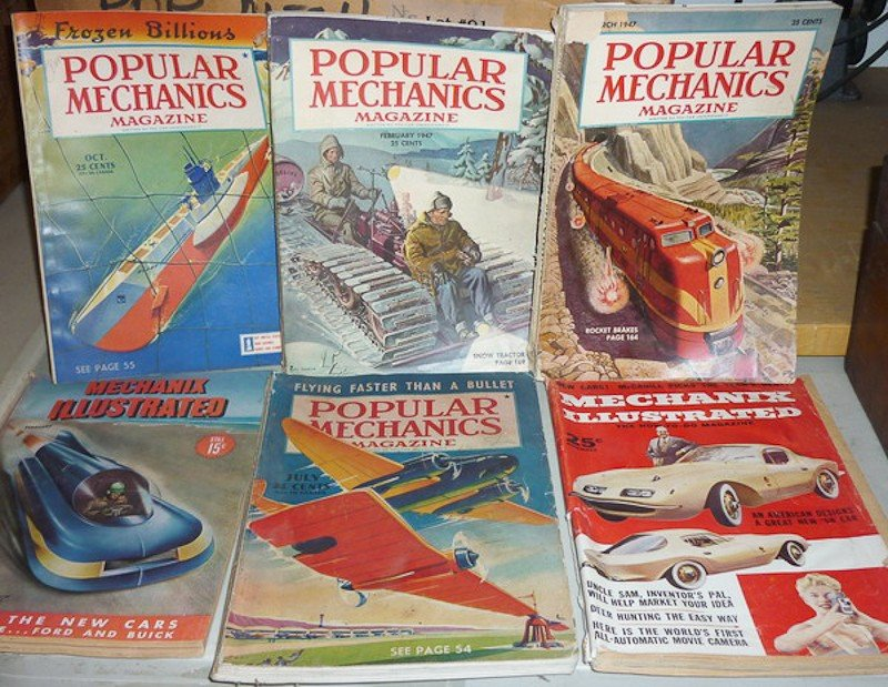 91: Vintage Mechanic and Science Magazines