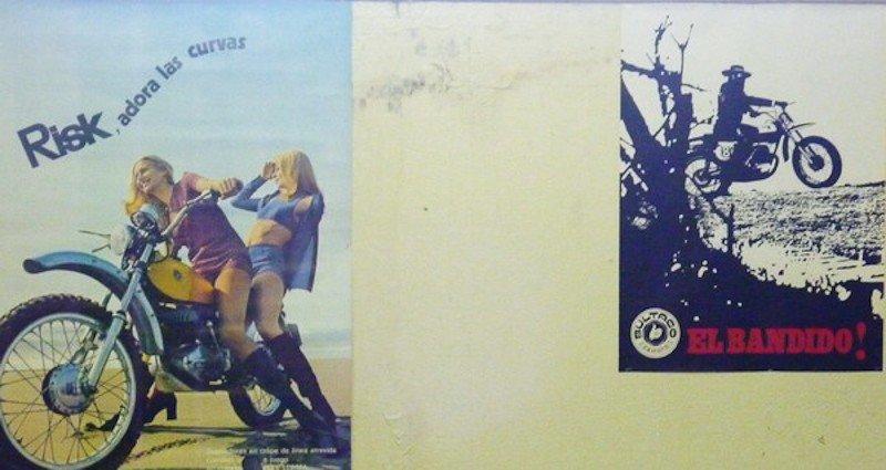 109: Vintage Bultaco Motorcycle Posters