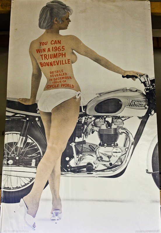 115: Vintage Triumph Motorcycle Posters