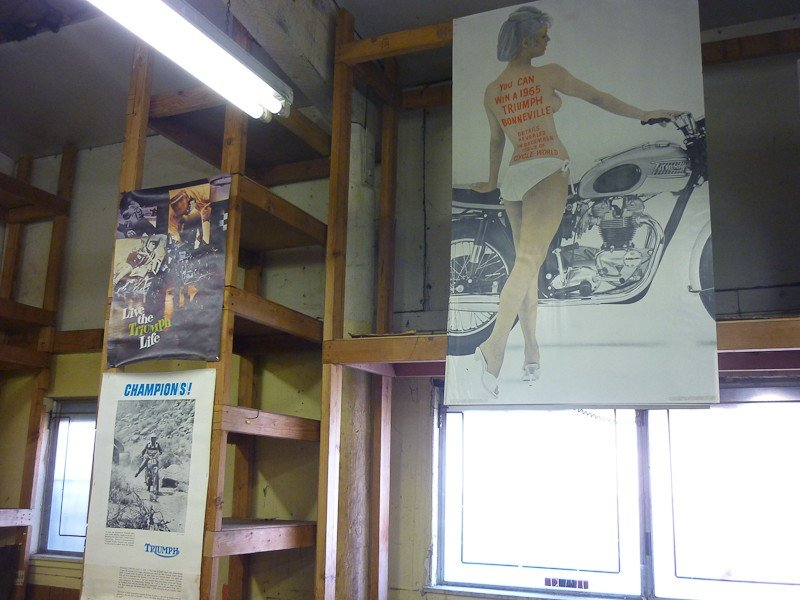 115: Vintage Triumph Motorcycle Posters - 5