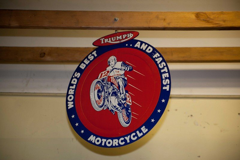 115: Vintage Triumph Motorcycle Posters - 6