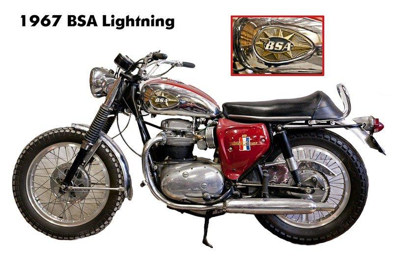 174: 1967 BSA A65 Lightning Motorcycle