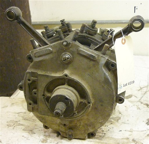 219: 1909 Indian V Twin Motorcycle Engine