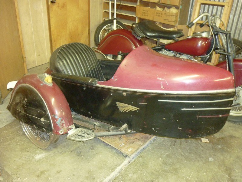 287: 1948 Indian Chief Motorcycle with Princess Sidecar - 5