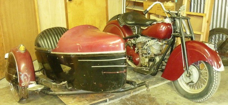 287: 1948 Indian Chief Motorcycle with Princess Sidecar - 8