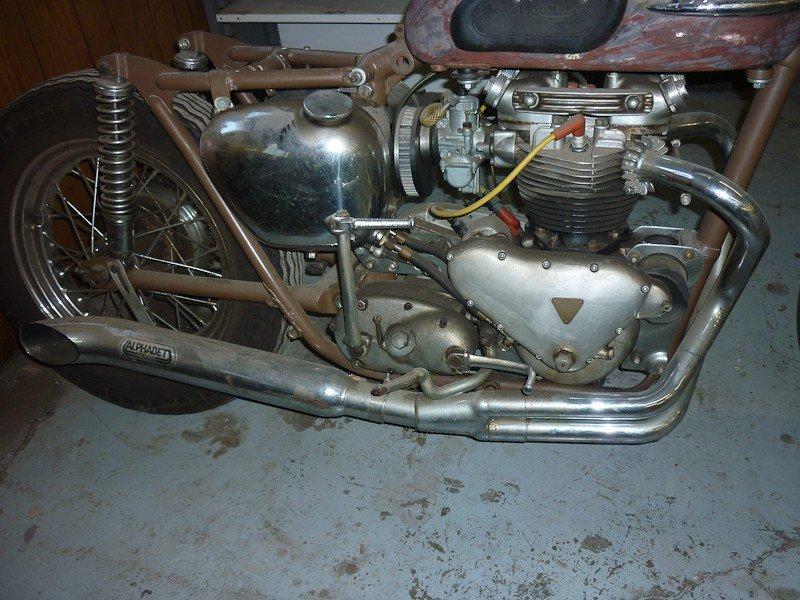 302: 1957 Triumph TR6 Trophy Motorcycle - 2