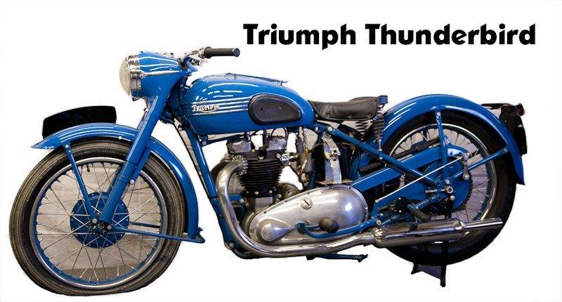 312: 1951 Triumph 6T Thunderbird Motorcycle