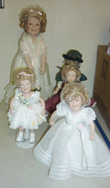 2: Shirley Temple Porcelain Dolls
