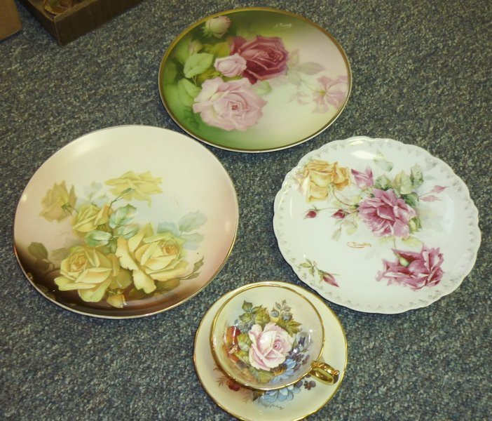 9: Signed Porcelain, Plates and Cups
